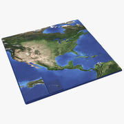 3D карта США с Аляской на Гавайях 3d model