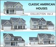 Coleção americana clássica das casas Vol.2 3d model