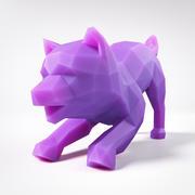 Cucciolo Shiba Inu Low Poly 5 3d model