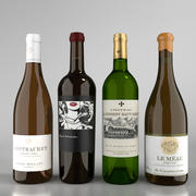 Zestaw butelek białego wina 1 3d model