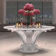 꽃 센터 테이블 3d model
