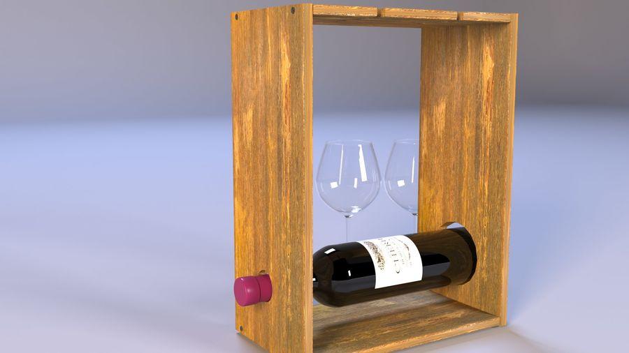 Scaffale decorativo per vino royalty-free 3d model - Preview no. 4