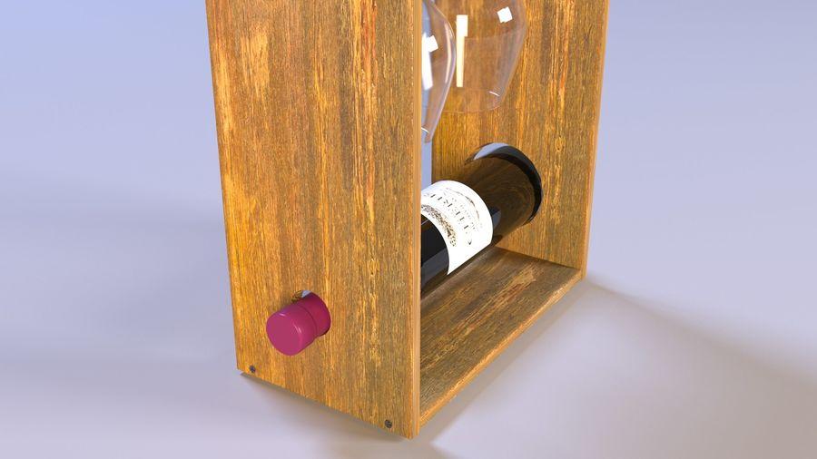 Scaffale decorativo per vino royalty-free 3d model - Preview no. 2