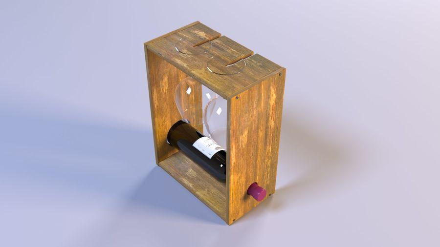 Scaffale decorativo per vino royalty-free 3d model - Preview no. 3