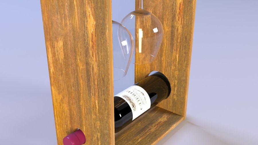 Scaffale decorativo per vino royalty-free 3d model - Preview no. 1