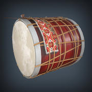 Traditional Drum 3d model