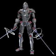 Cyberpunk Samurai 3d model