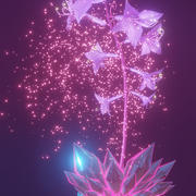 magical flower 3d model