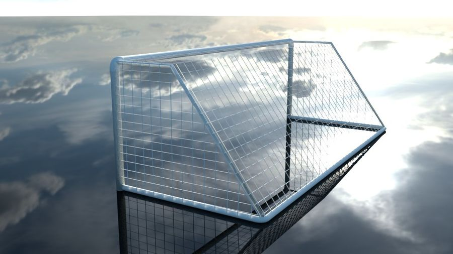 Football/Soccer Goal royalty-free 3d model - Preview no. 5