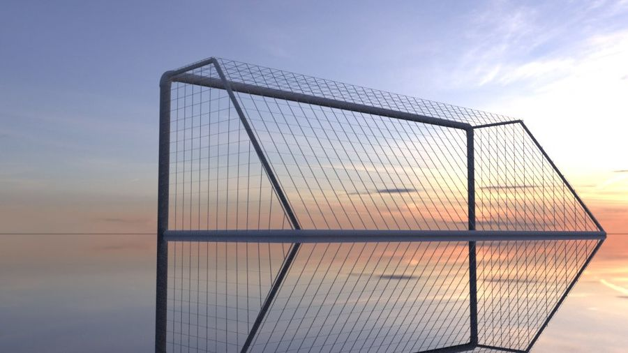 Football/Soccer Goal royalty-free 3d model - Preview no. 12