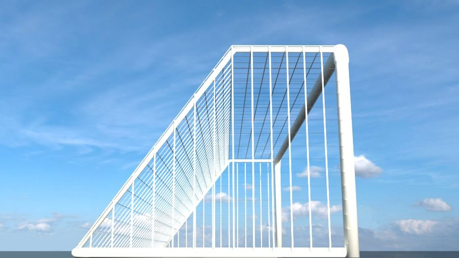 Football/Soccer Goal royalty-free 3d model - Preview no. 4