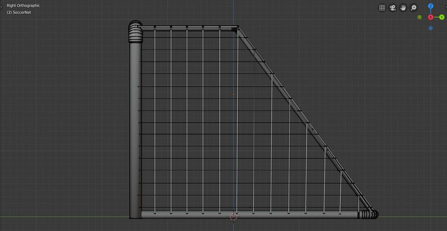 Football/Soccer Goal royalty-free 3d model - Preview no. 8