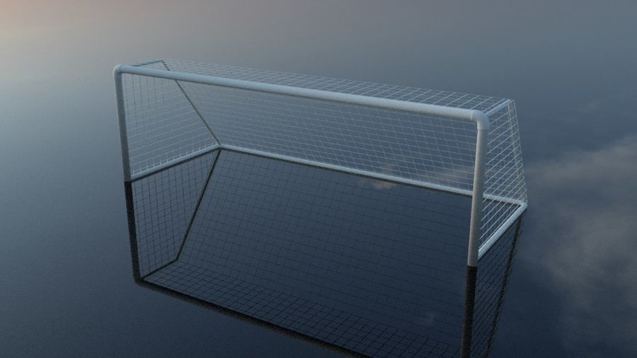 Football/Soccer Goal royalty-free 3d model - Preview no. 9