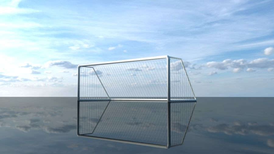 Football/Soccer Goal royalty-free 3d model - Preview no. 3