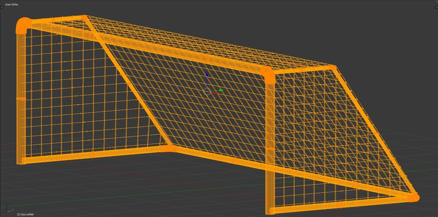 Football/Soccer Goal royalty-free 3d model - Preview no. 6