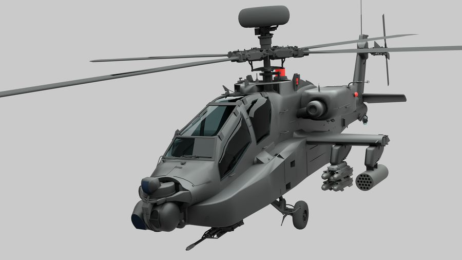 AH Apache Attack Helicopter modèle 3D royalty-free 3d model - Preview no. 1