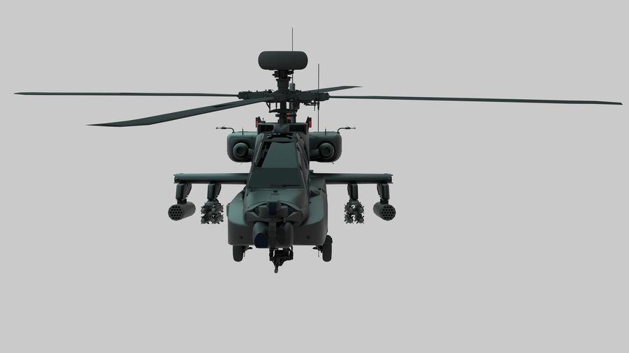 AH Apache Attack Helicopter modèle 3D royalty-free 3d model - Preview no. 4