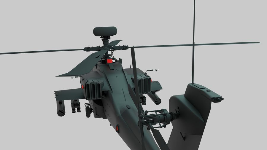 AH Apache Attack Helicopter modèle 3D royalty-free 3d model - Preview no. 3
