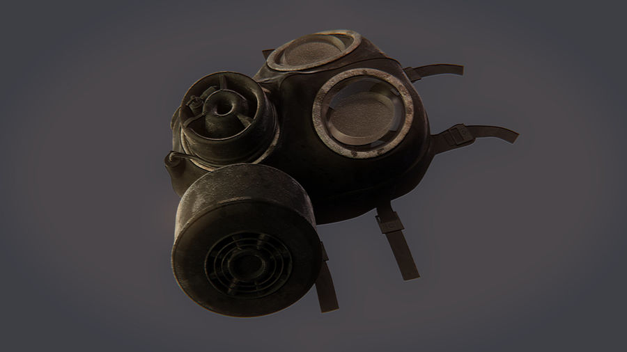 Gas Mask royalty-free 3d model - Preview no. 6