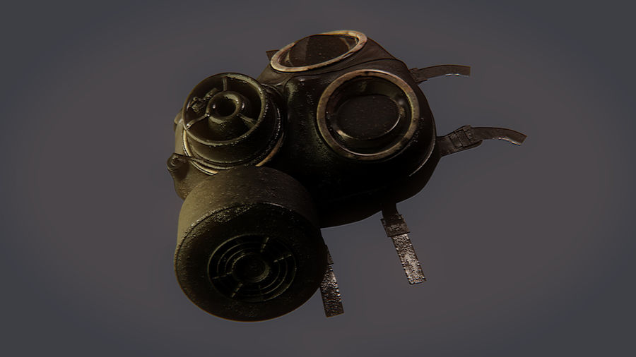 Gas Mask royalty-free 3d model - Preview no. 10
