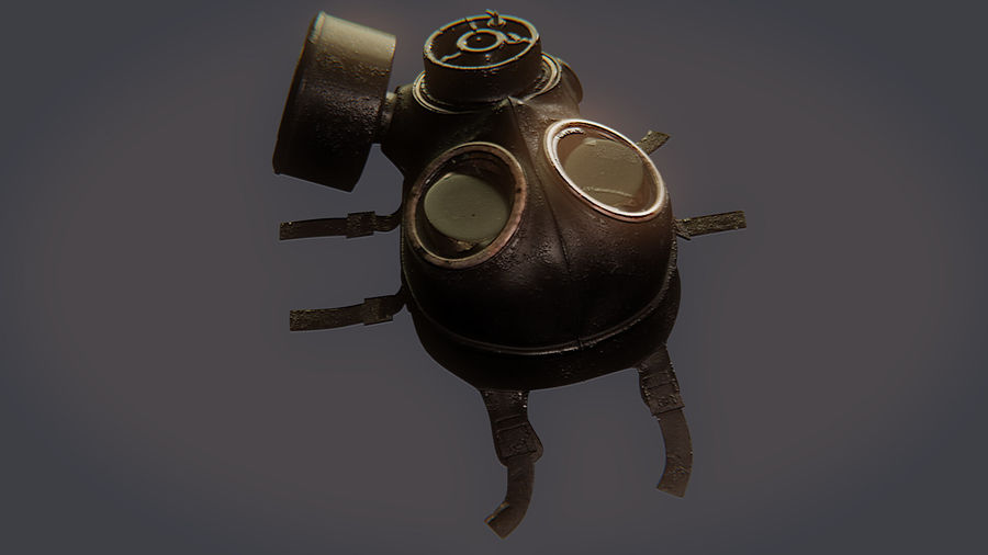 Gas Mask royalty-free 3d model - Preview no. 15