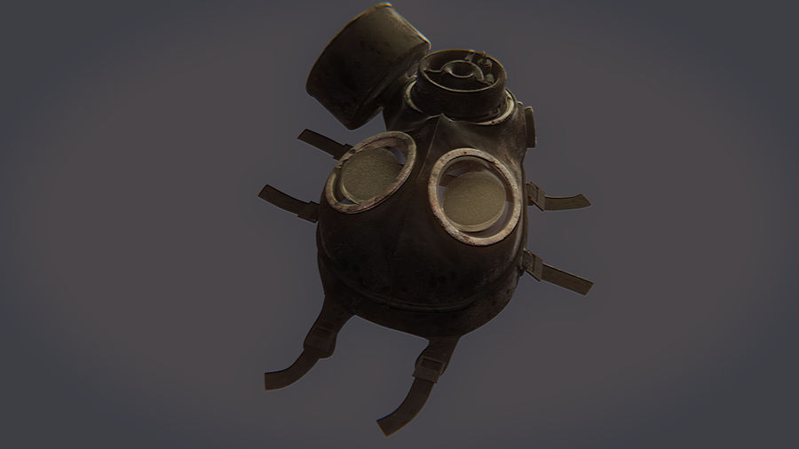 Gas Mask royalty-free 3d model - Preview no. 13