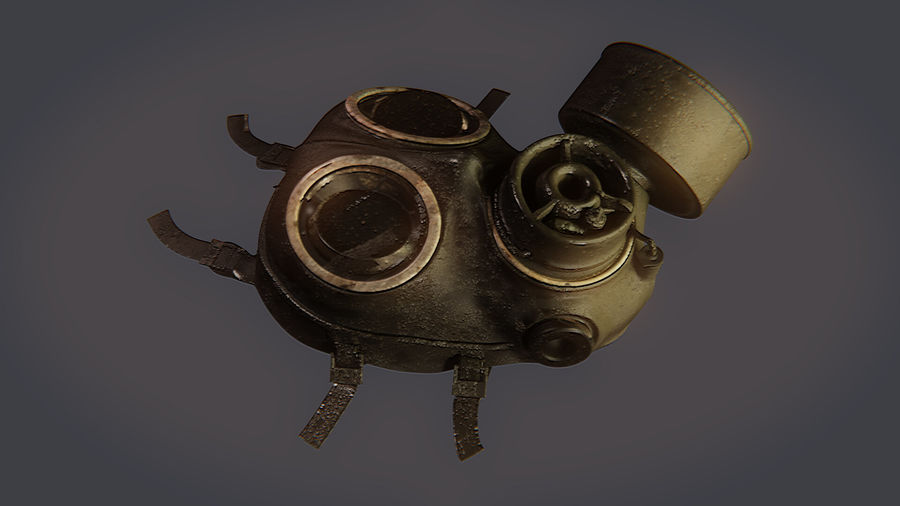Gas Mask royalty-free 3d model - Preview no. 11