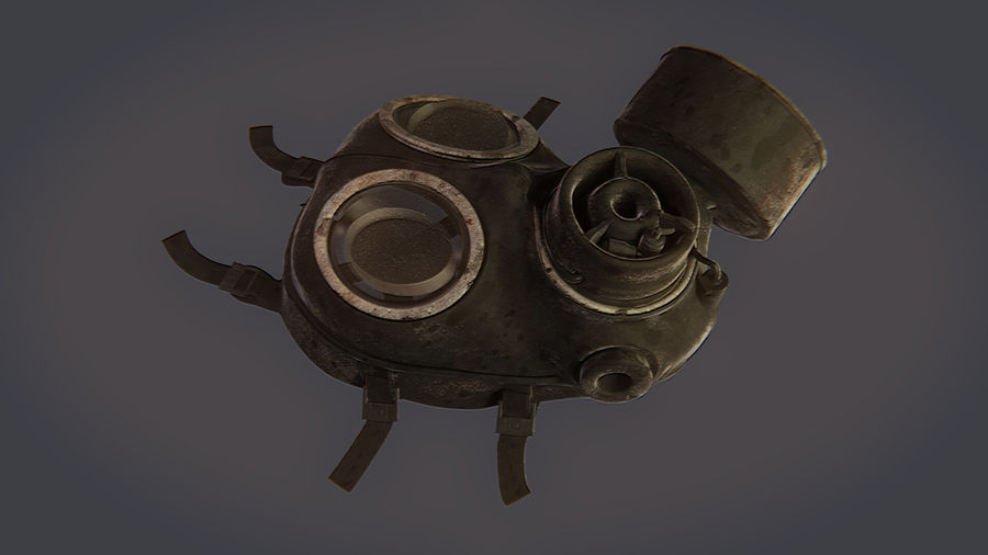 Gas Mask royalty-free 3d model - Preview no. 12