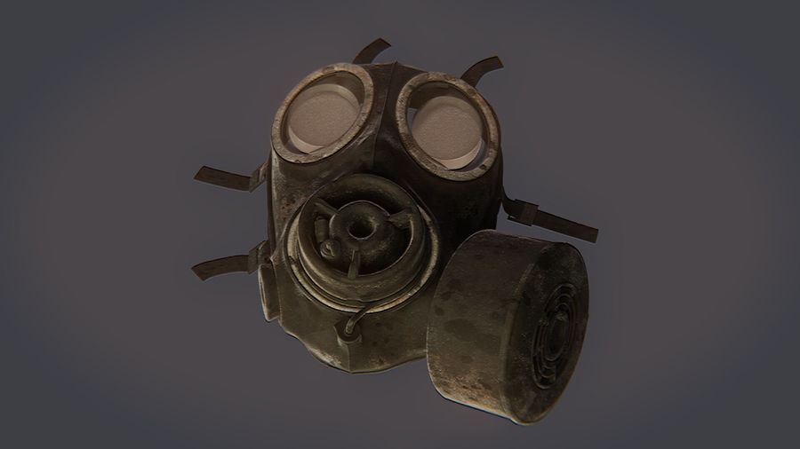Gas Mask royalty-free 3d model - Preview no. 5