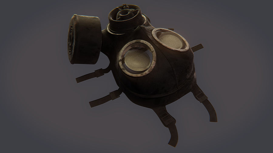Gas Mask royalty-free 3d model - Preview no. 7