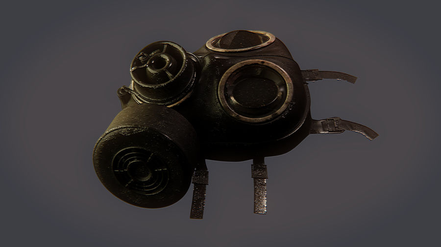 Gas Mask royalty-free 3d model - Preview no. 16