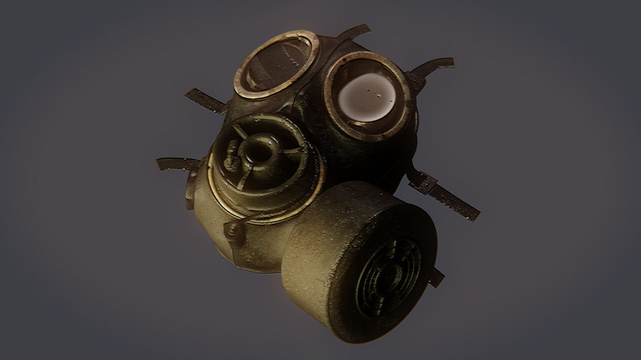 Gas Mask royalty-free 3d model - Preview no. 14