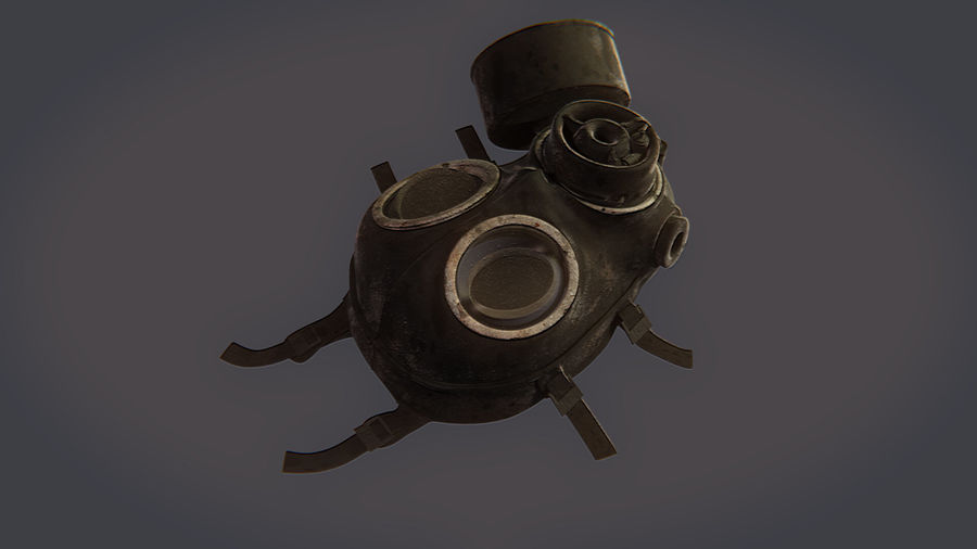 Gas Mask royalty-free 3d model - Preview no. 8