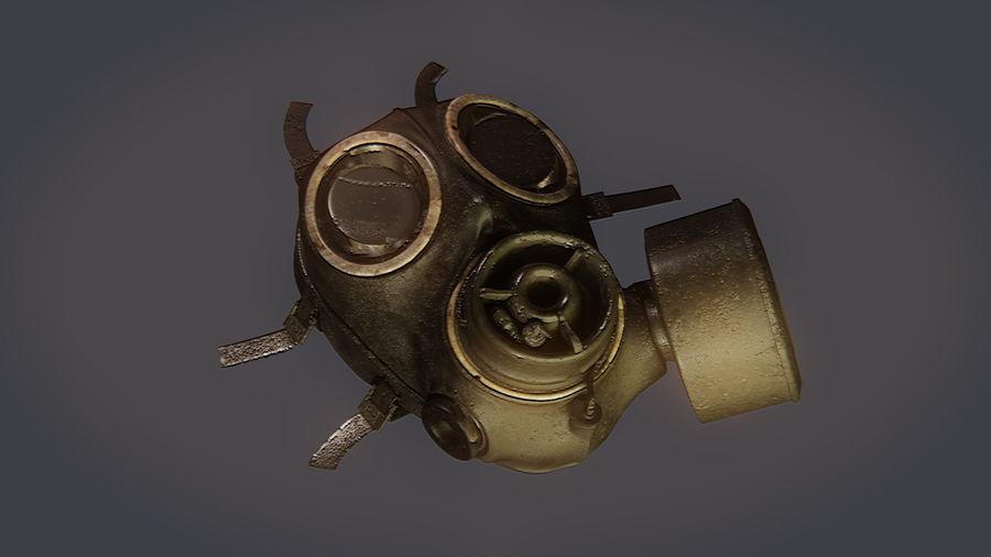 Gas Mask royalty-free 3d model - Preview no. 9