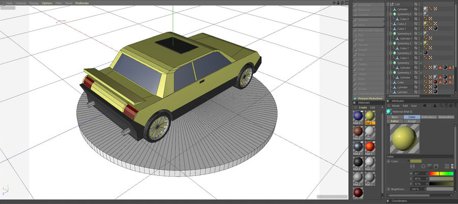 Voiture basse royalty-free 3d model - Preview no. 9