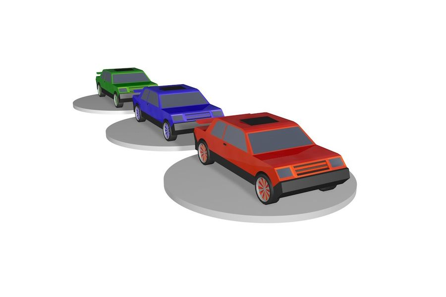 Voiture basse royalty-free 3d model - Preview no. 6
