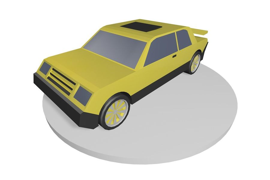 Voiture basse royalty-free 3d model - Preview no. 1