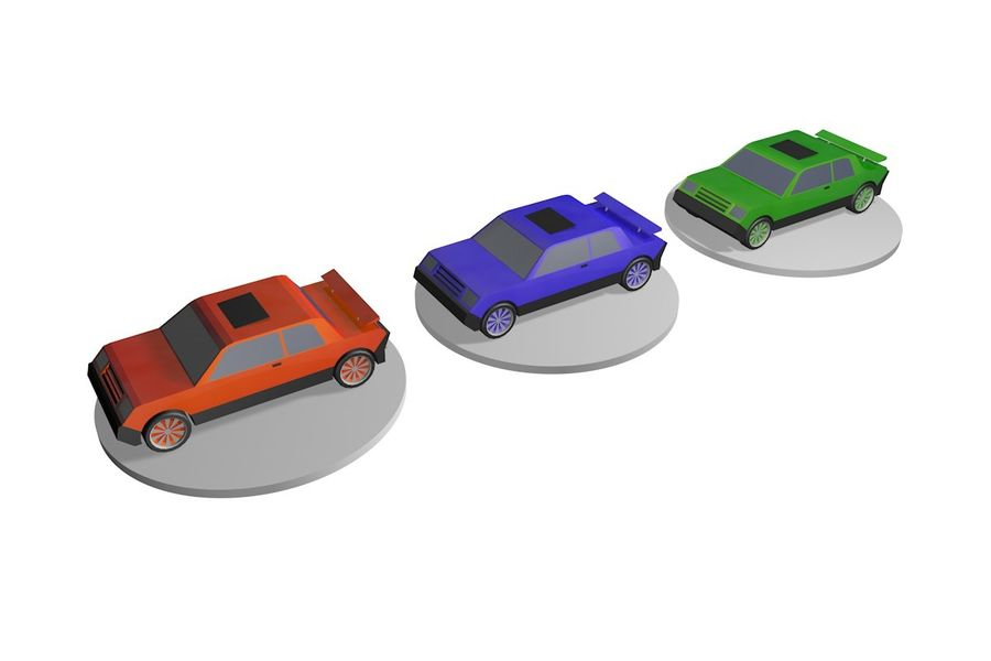 Voiture basse royalty-free 3d model - Preview no. 5