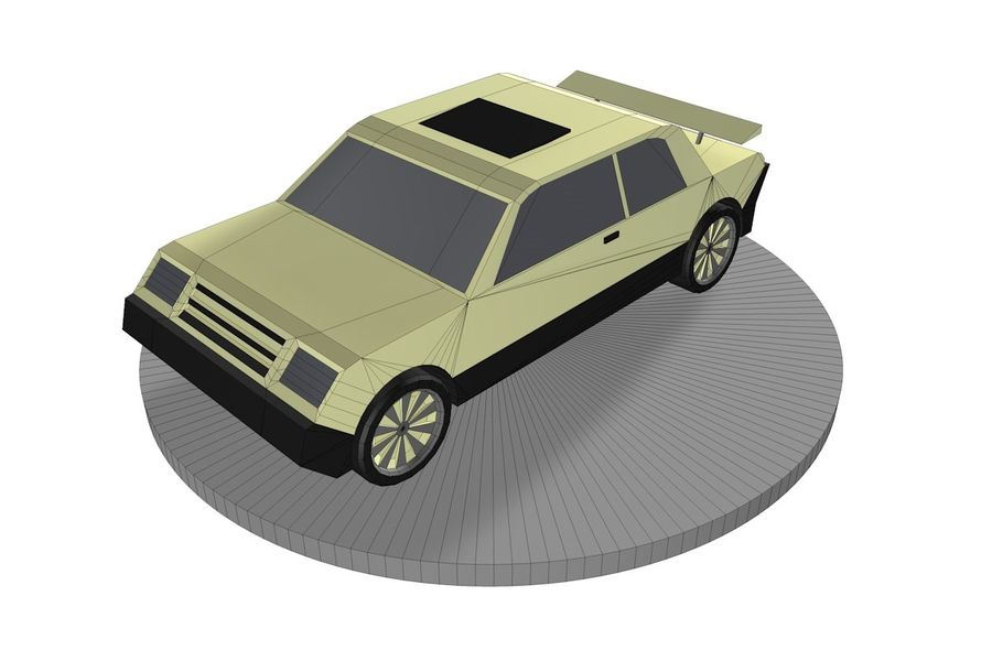 Voiture basse royalty-free 3d model - Preview no. 8