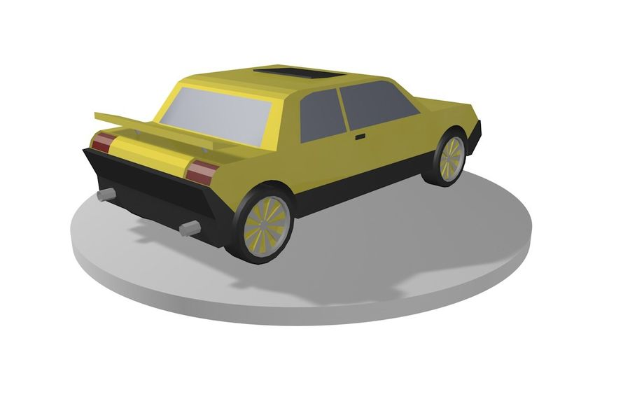 Voiture basse royalty-free 3d model - Preview no. 4