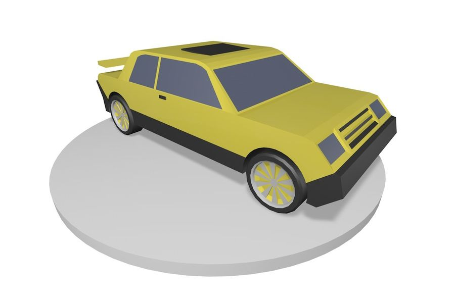 Voiture basse royalty-free 3d model - Preview no. 2