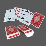 Klassiska spelkort 3d model