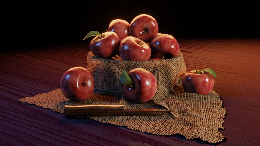 Las manzanas royalty-free modelo 3d - Preview no. 1