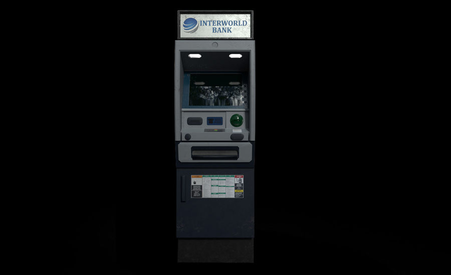 ATM Cash Machine Gameready royalty-free 3d model - Preview no. 6