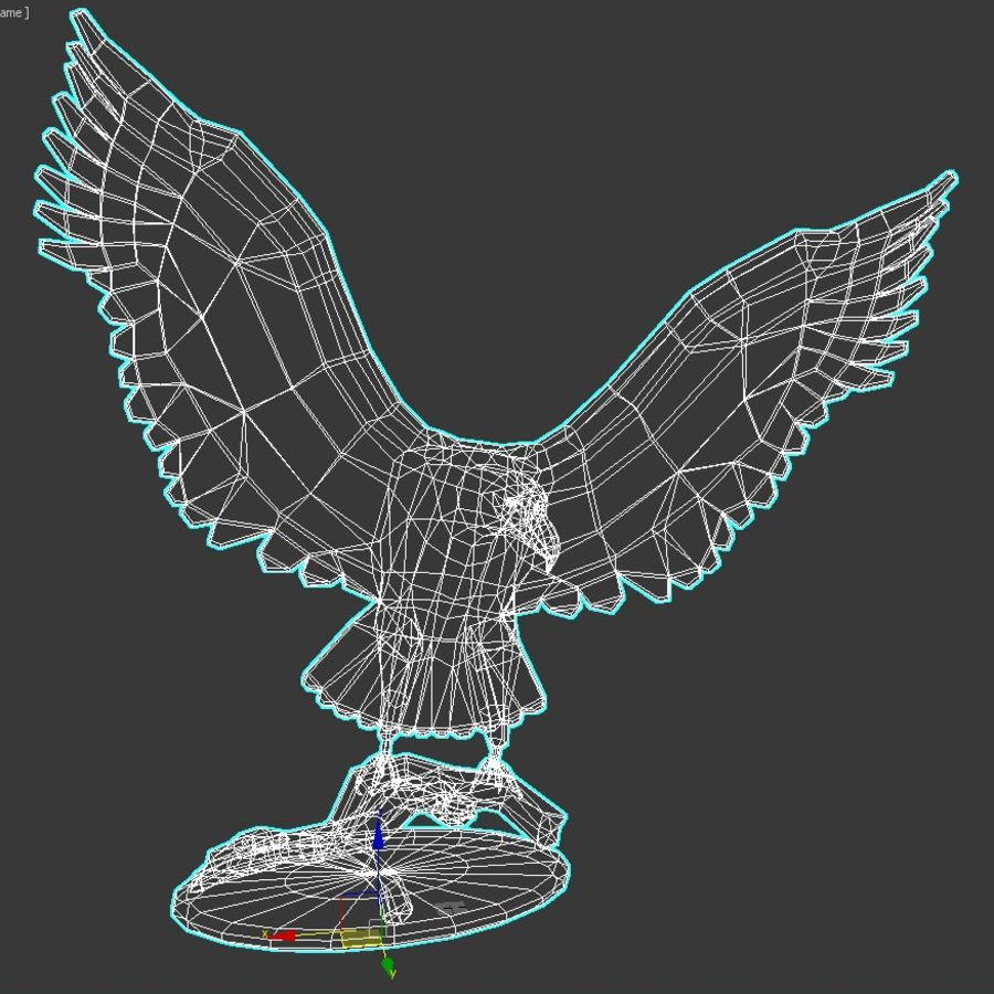 Águila royalty-free modelo 3d - Preview no. 6