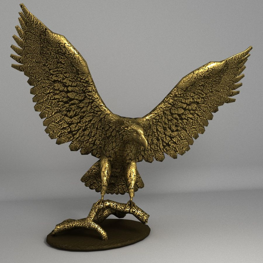 Águila royalty-free modelo 3d - Preview no. 1