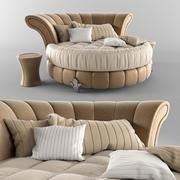円形ベッド 3d model