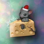 Rato em queijo impressão 3d model