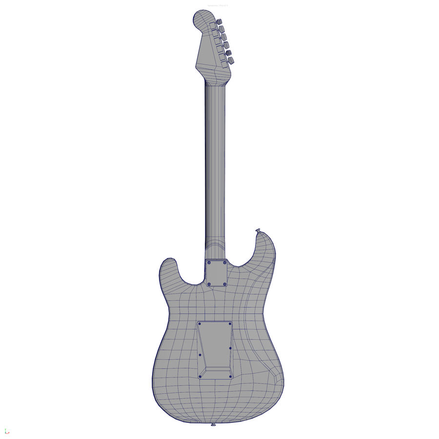 Guitarra fender stratocaster pbr royalty-free 3d model - Preview no. 13
