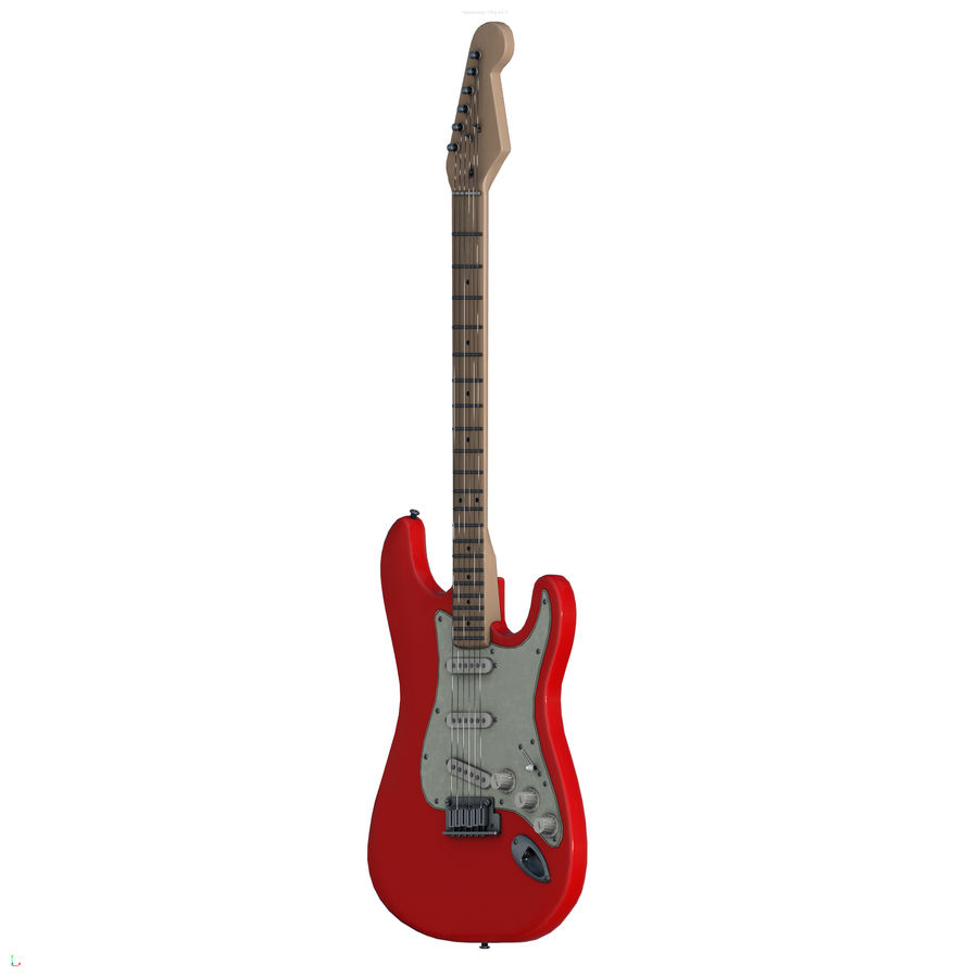 Guitarra fender stratocaster pbr royalty-free 3d model - Preview no. 8